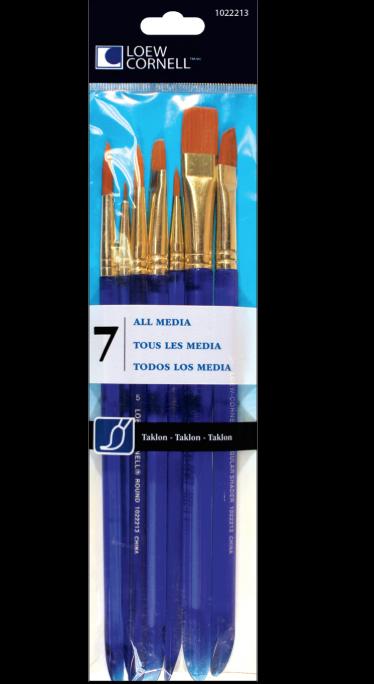Taklon Craft Brush Set
