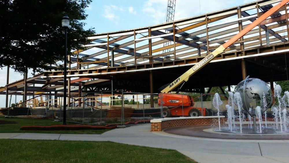 Penn State University,Harrisburg Branch Hoffer Building - Curved Steel Beams