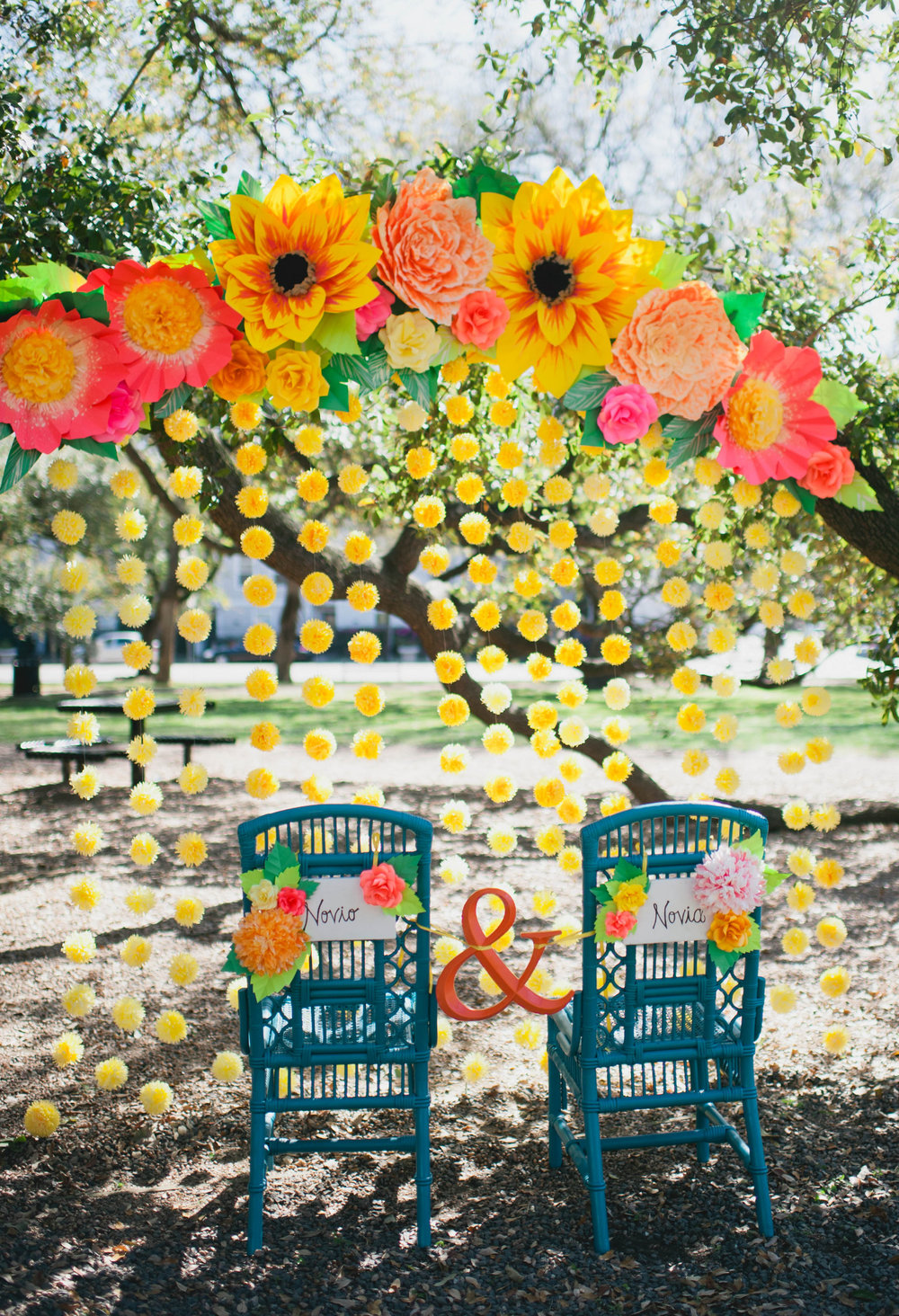 Mexican Fiesta Wedding Paper Flowers
