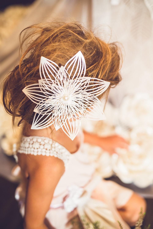 Flower girl hair accessories,