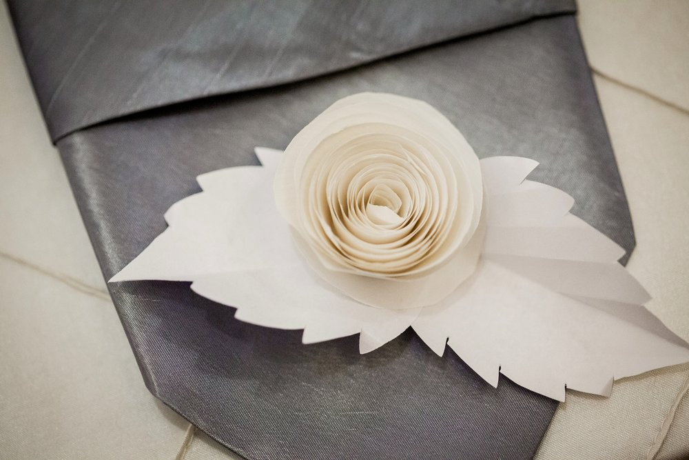 Reception place setting decor
