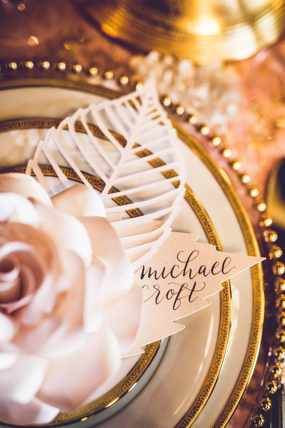 Elegant seating chart place cards