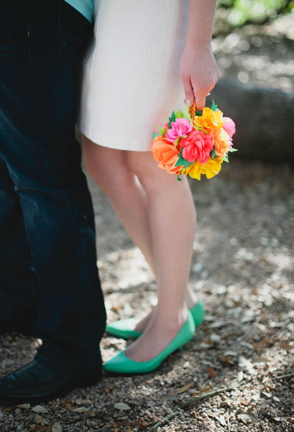 Colorful paper flower bouquet