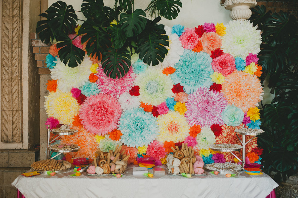 Colorful Mexican Dessert Backdrop