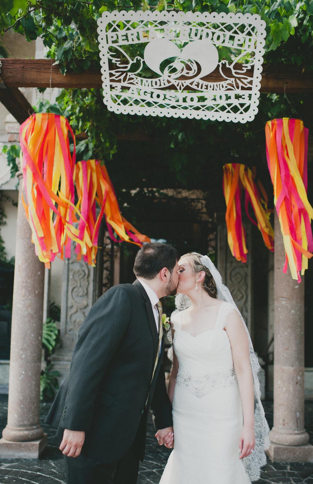 Colorful Mexcian Reception Entrance decor