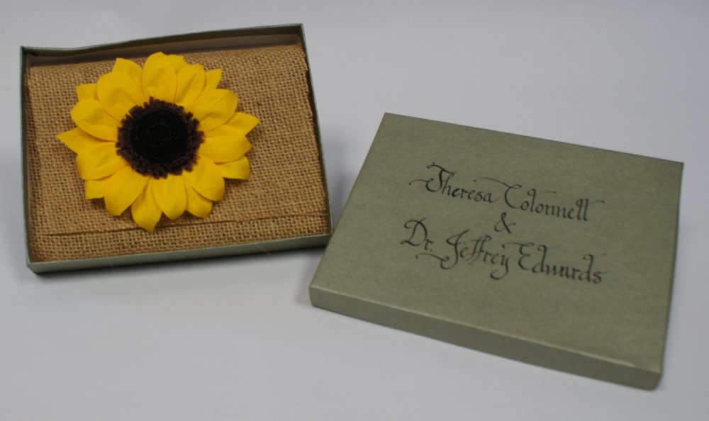 Paper flower invitation