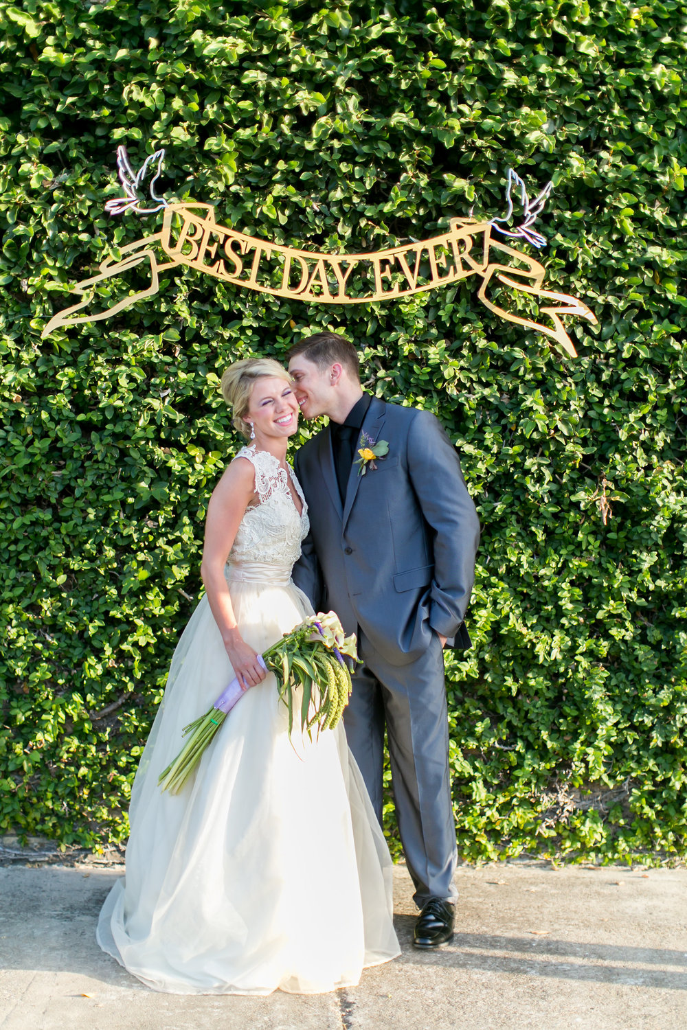 Best Day Ever laser cut reception sign