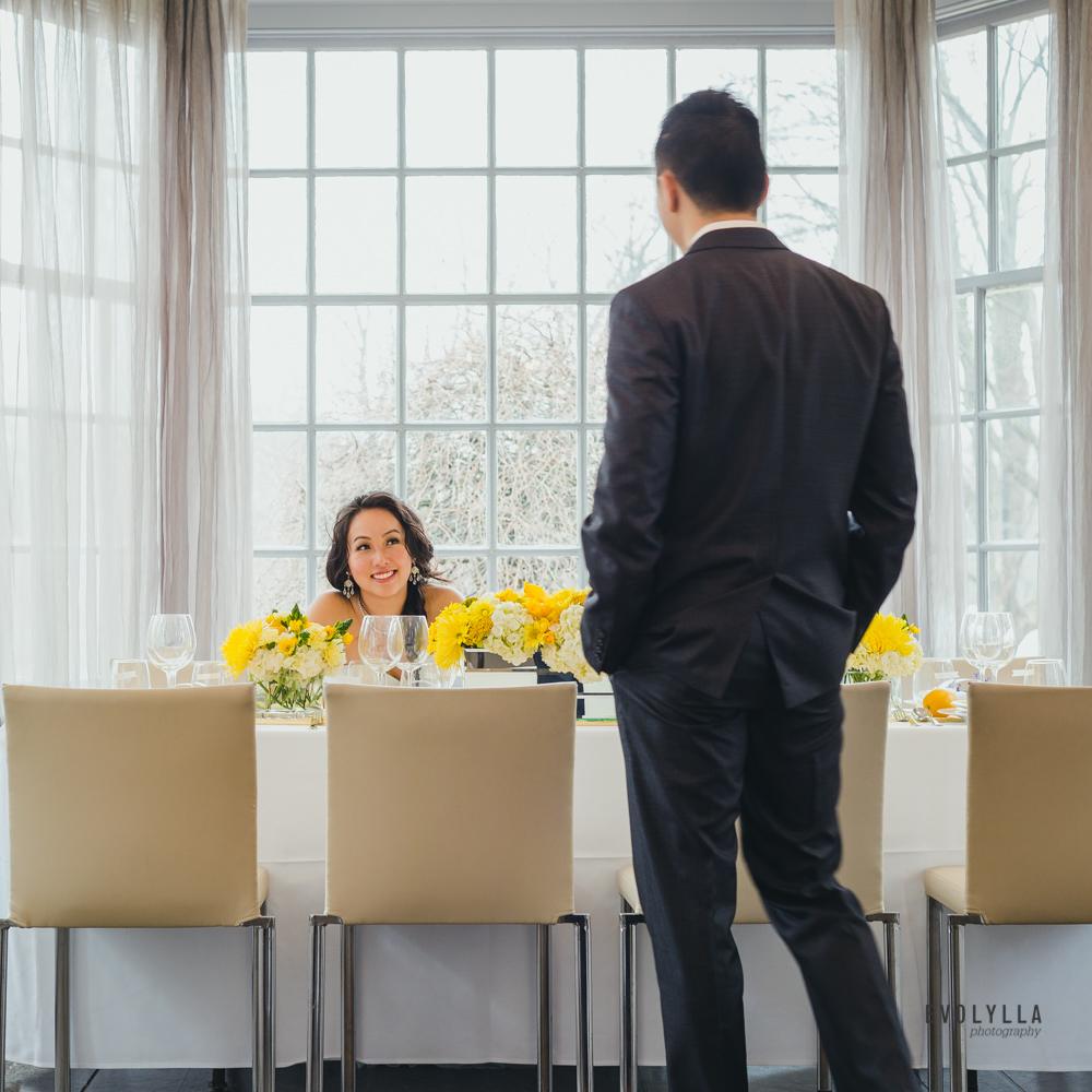 Creaive First Look at Head Table Alternative Wedding Photographer Toronto