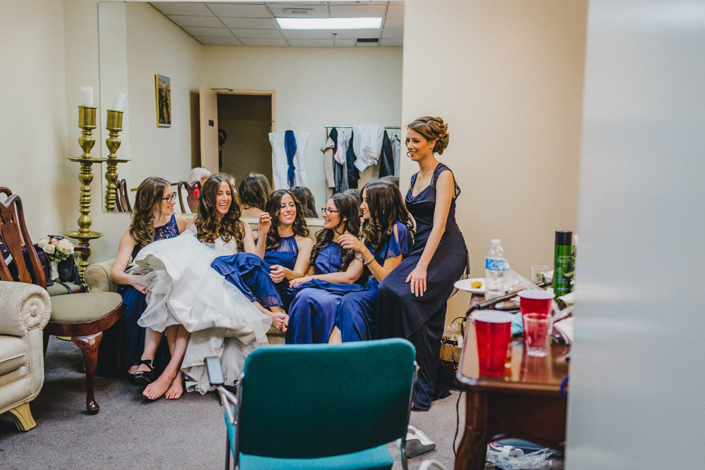 Sephardic Kehila Centre Wedding Photos Bride and Bridesmaids