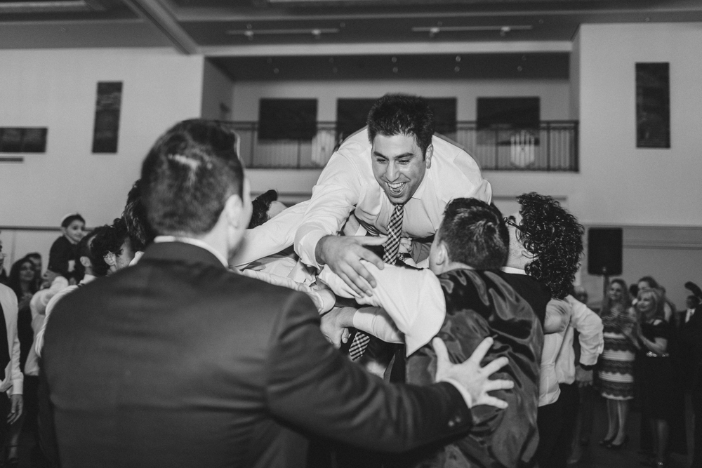 jewish wedding dance horah groom's side