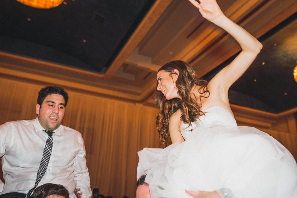 Sephardic Kehila Centre jewish wedding dance bride and groom on chairs