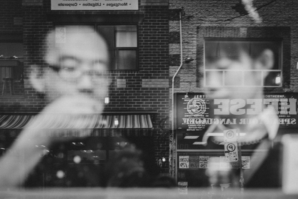 Kensington Market Black and White Engagement Photos