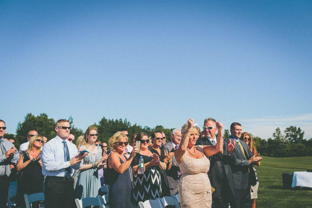 Outdoor Wedding Guest Candid Documentary Style