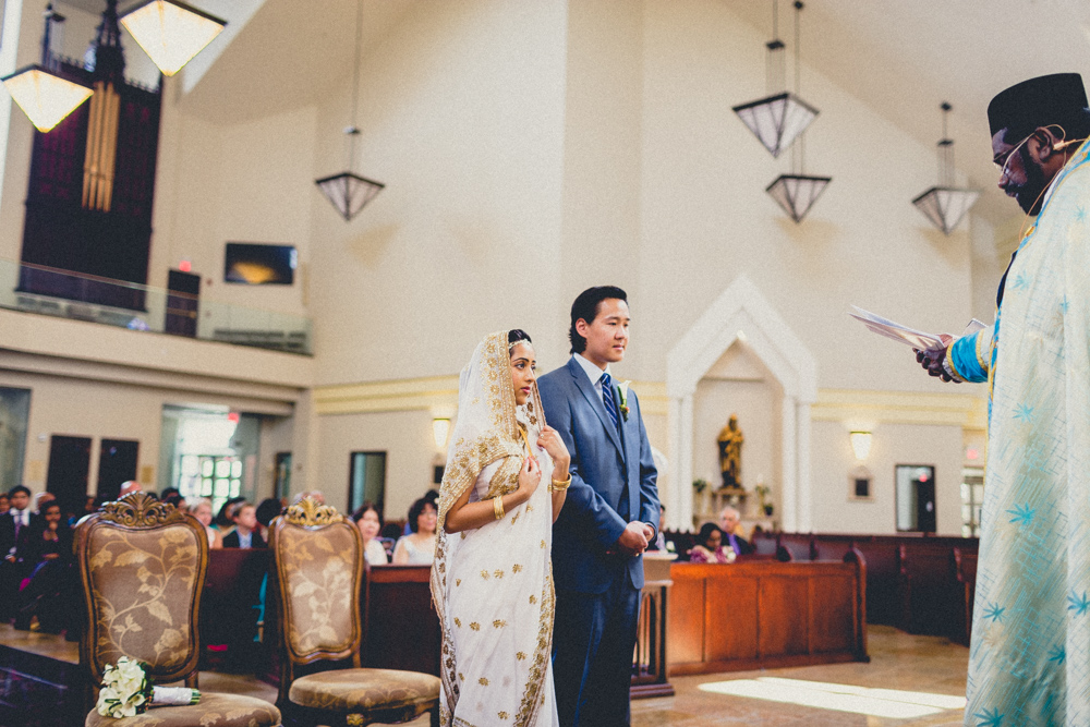 Toronto Brampton Documentary Wedding Photographers South Indian Weddings in a Church