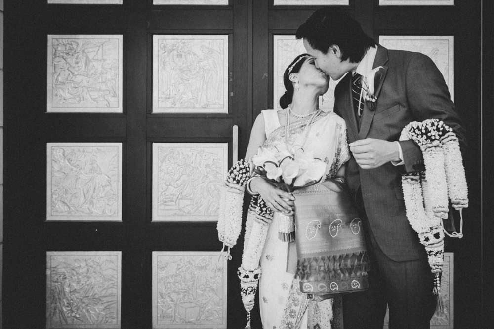 Toronto Brampton Wedding Photographer Asian Weddings Traditional Indian Ceremony First Kiss