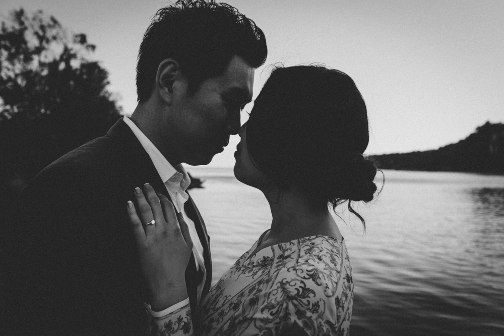 Black and White Wedding Photographer Natural Documentary Engagement Photography