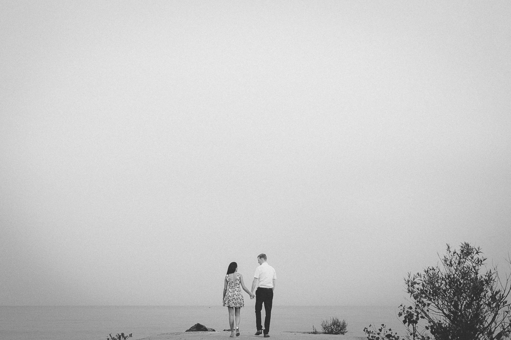 Black and White Portraits Toronto Engagement Photographer