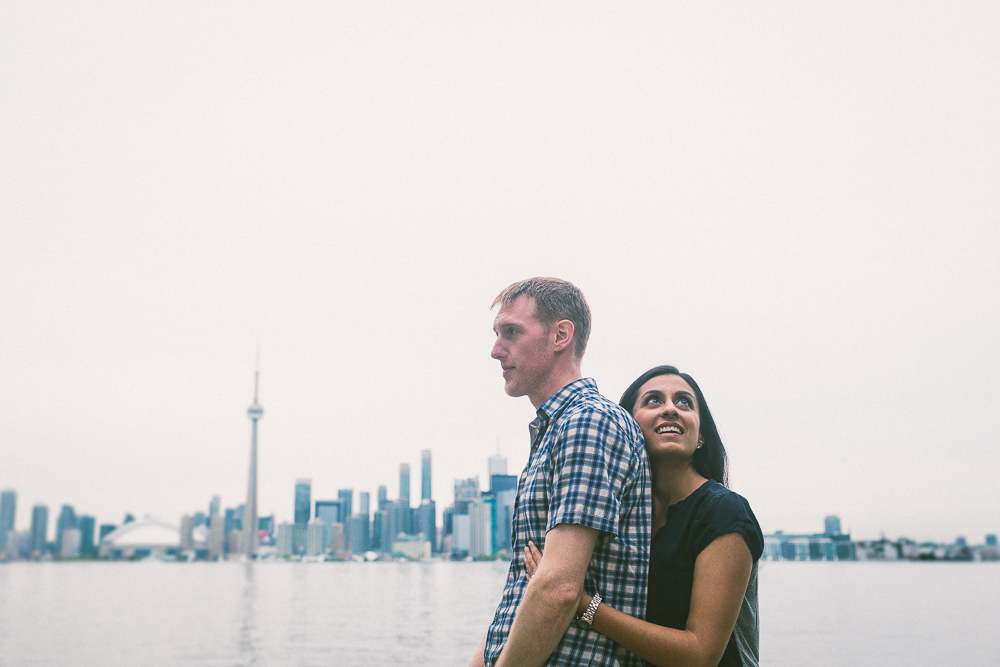 Toronto CN Tower Engagement Picture