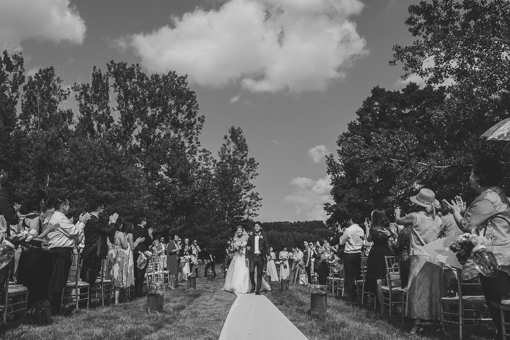 Outdoor Barn Wedding Ceremony Photojournalist Photographer
