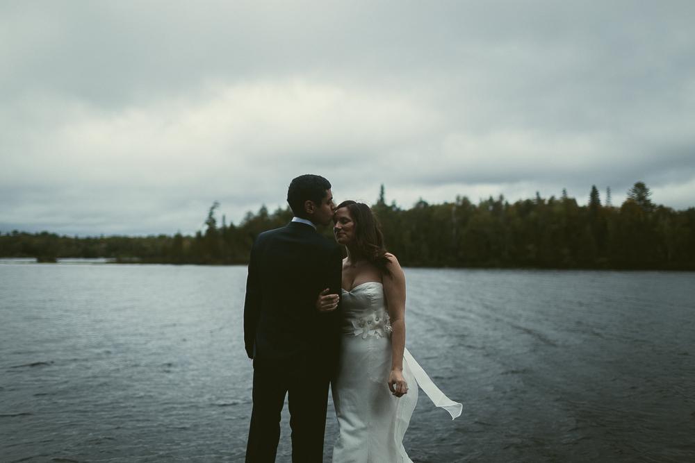 Cottage Wedding Bride and Groom Portrait