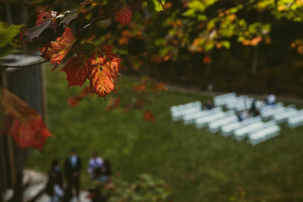 Cottage Wedding Fall Colours Muskoka