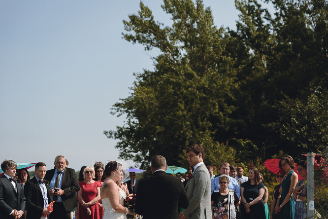Toronto Islands outdoor wedding