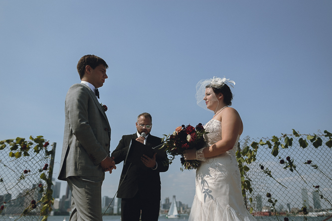 Toronto Islands outdoor wedding ceremony