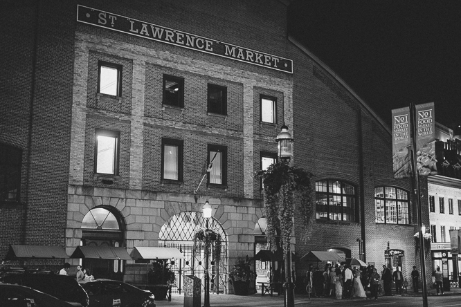 st lawrence market wedding reception