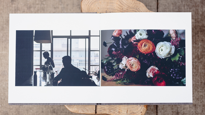 wedding albums - photographic printing with lay-flat binding