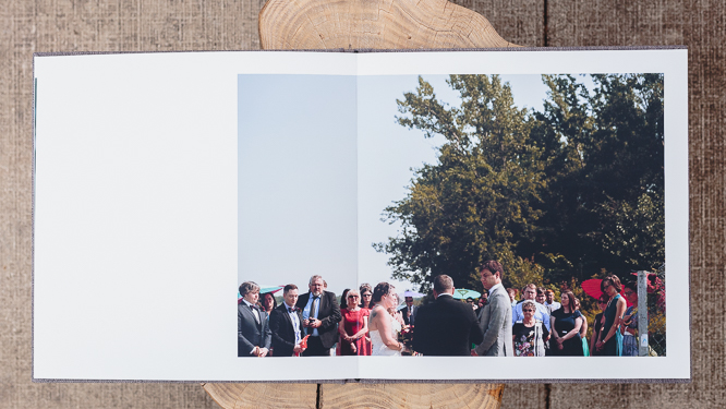 wedding albums - creased full spread print (no gutters)