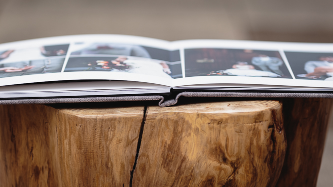 wedding albums - photobook style skinny but durable pages