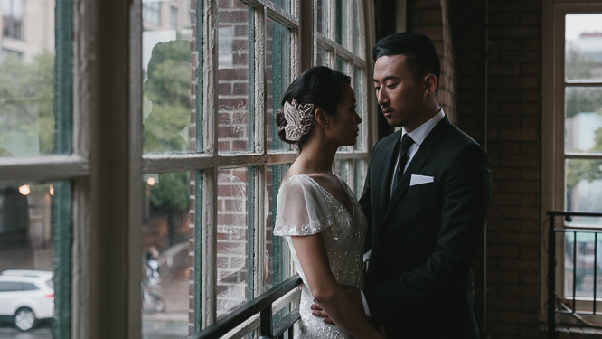 creative moody bride and groom portraits