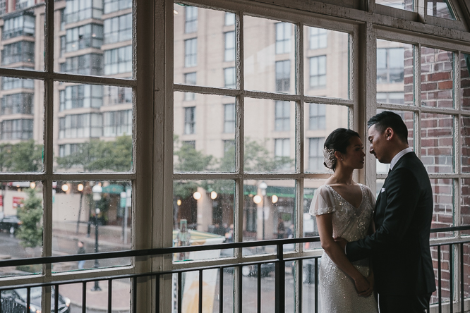 st lawrence market creative bride and groom portraits in small space