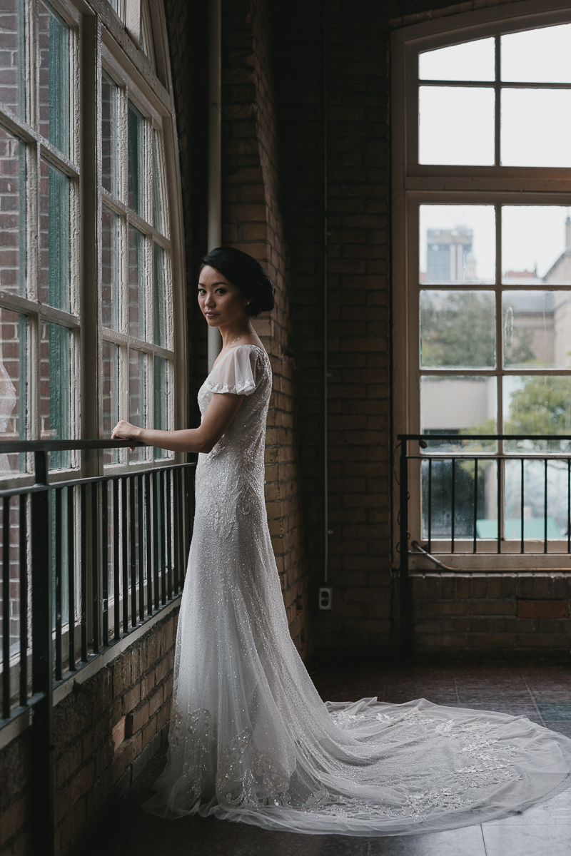 creative bridal portraits in unique wedding venues in toronto