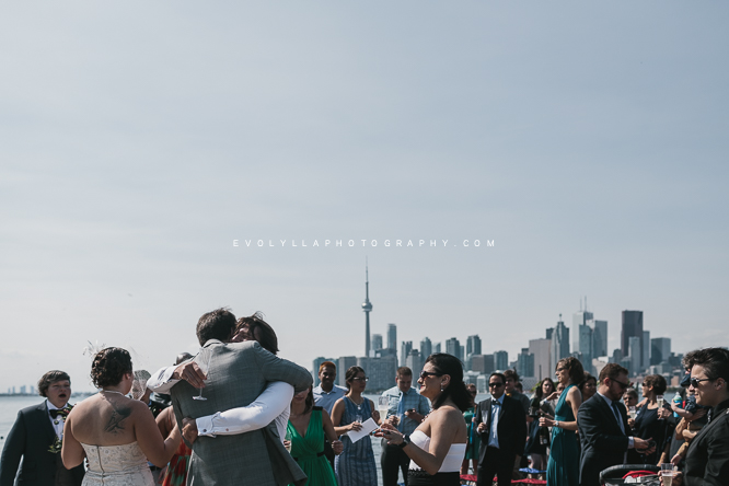 Toronto Islands   If you don't care for absolute privacy and rather throw in some randomness and urban elements to your wedding day, multiple locations on the Toronto Islands can be an unique experience. I have a wedding coming up next year in Ward's Island Association. This one in the picture was a outdoor wedding ceremony also on Ward's Island, overseeing the CN Tower and Toronto cityscape. I love the casualness to this alternative wedding venue. It's perfect for urban couples, hipster brides and grooms and a perfect laid back, artistic, bohemian wedding.   Click here to see the last wedding ceremony I shot on the Islands .