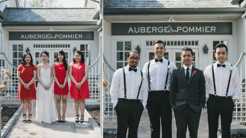 auberge du pommier wedding party photo ideas