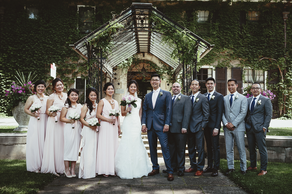 glendon college bridal party photos