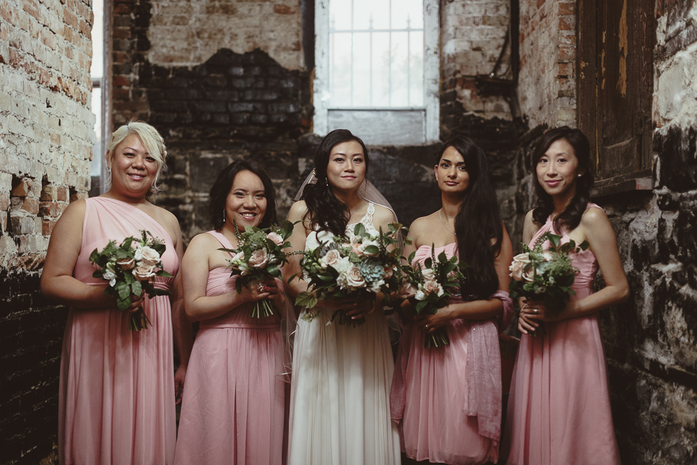 berkeley church wedding - basement bridesmaid group photos