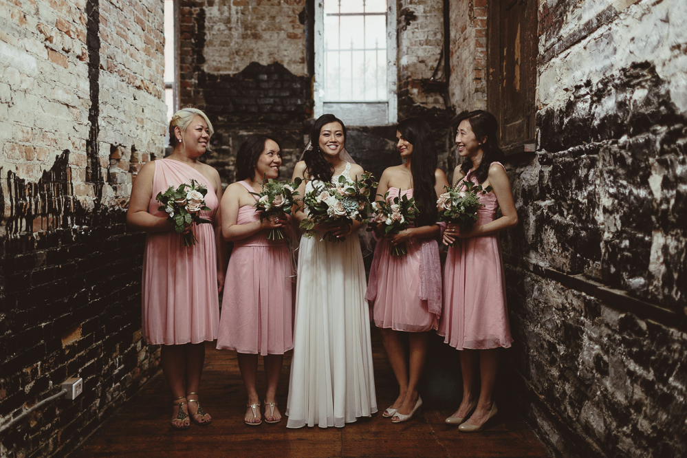 berkeley church wedding - indoor bridesmaid group photos