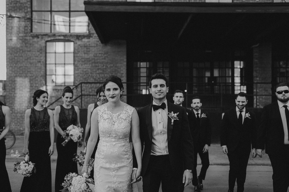 winter wedding at merchants of green coffee