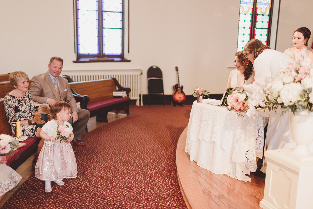 port perry united church wedding ceremony