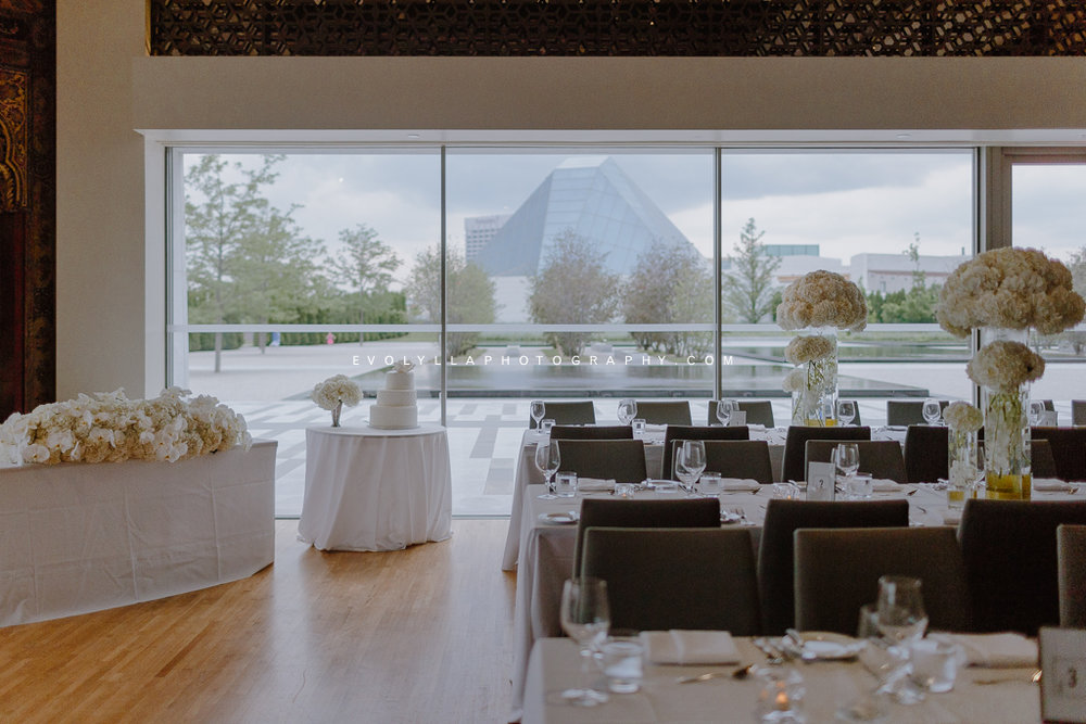 Aga Khan Museum Wedding  - top the list we had Aga Khan Museum in North York. Situated in just north of downtown Toronto by the Don Valley Parkway, Toronto's Aga Khan Museum was one of the most unique and elegant venues in the GTA. It's one of a kind and it's perfect for brides and grooms who appreciated culture, architecture and aesthetic in general. Its in-house restaurant Diwan offered an excellent menu. It's the most private space out of the five small wedding venues in Toronto we've selected. Although the reception space might be limited for small weddings, Aga Khan Museum was surrounded by the most beautifully landscaped garden in the GTA - the Aga Khan Park and the museum itself was big. It's a all-in-one venue for your wedding day's getting ready, ceremony, wedding photos and reception. There's also the option for an outdoor ceremony and reception. We must say that Aga Khan Museum along with  Graydon Hall Manor  which also located in North York were our all time favourite wedding venues in GTA. Their ease of access, varieties of aesthetic outdoor and indoor spaces, unique architectures and great privacy and thus intimacy made them the top wedding venues in Toronto for elegant weddings.