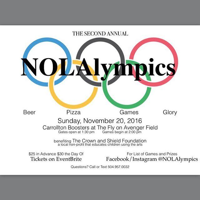 Let the countdown begin! #nolalympics