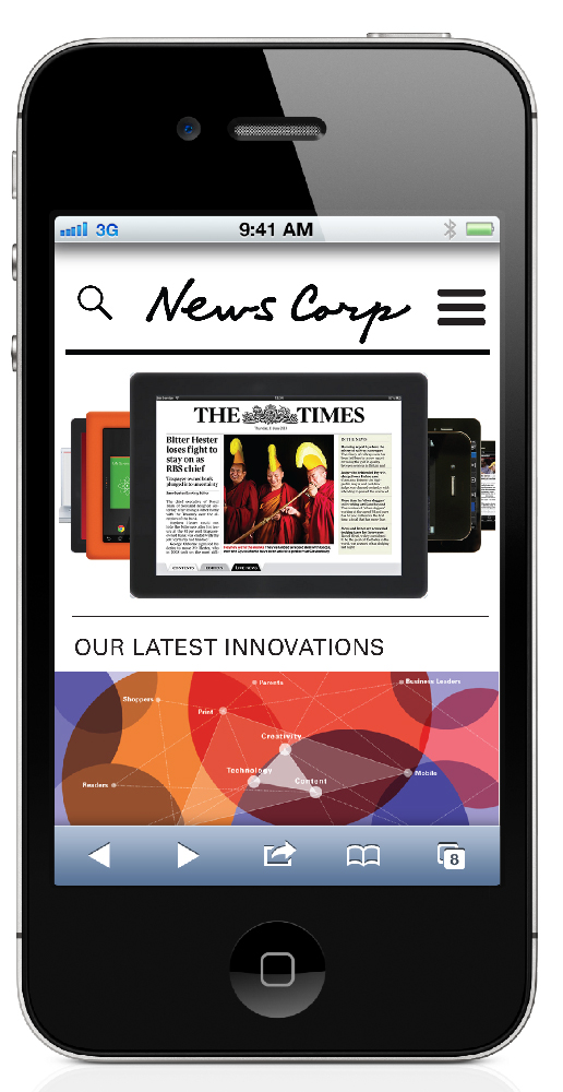 News Corp mobile version.