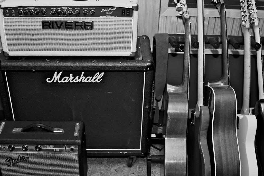 Rivera Jake Reverb tube guitar head and Marshall 2x12 cab