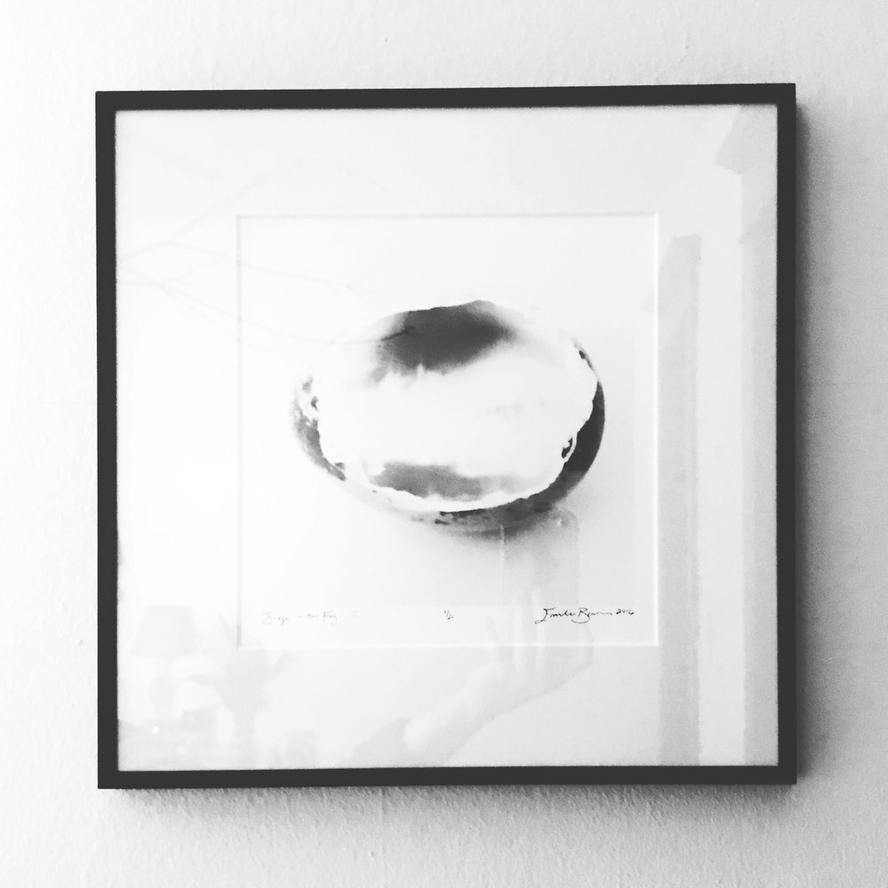 """Snags in the Fog I   Inkjet print of liquid emulsion on eggshell  Edition of 20 prints  7"""" x 7"""" print, in a 13"""" x 13"""" frame and archival matte  Holden Price: $220 (originally $350)"""