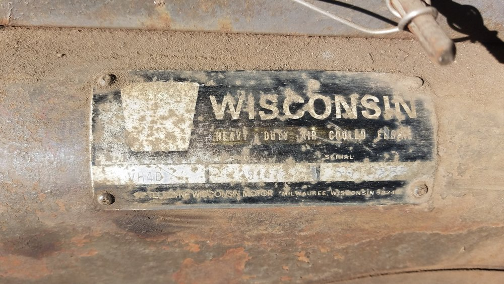 Wisconsin air cooled engine tag