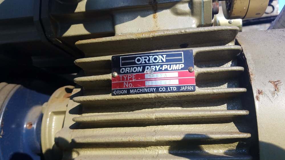 orion dry pump radiator