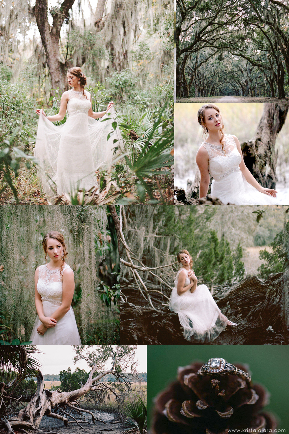 Krista Lajara Photography | www.kristalajara.com | Bridal Session at Wormsloe Historic Site in Savannah, GA