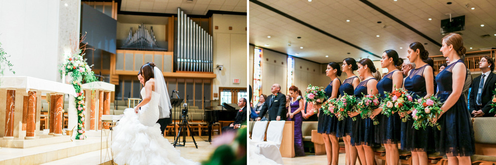 Rose + Nick Wedding at St. Mary Magdalen Church // www.kristalajara.com